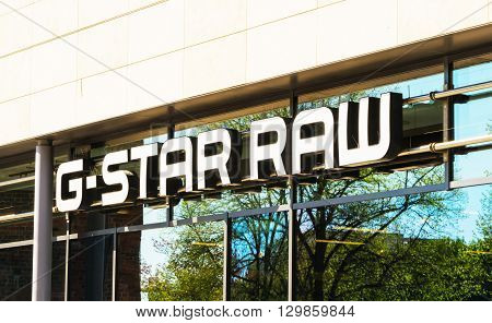 ROSTOCK GERMANY - MAY 12 2016: G-Star RAW is a Dutch designer clothing company