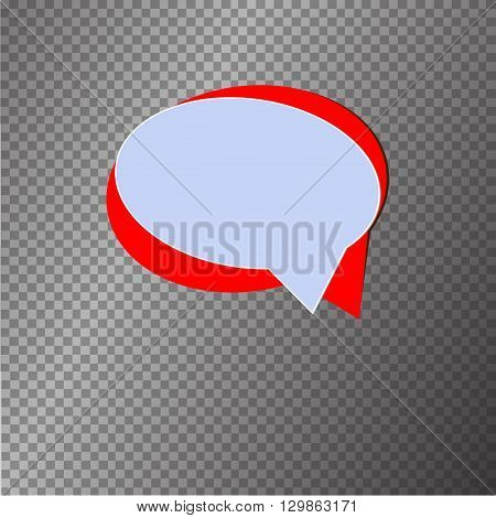 Vector  isolated moder banner icon buble speesh illustration
