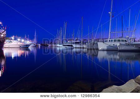 Yacht Port At Night