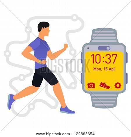 Running. Fitness Tracker. 01