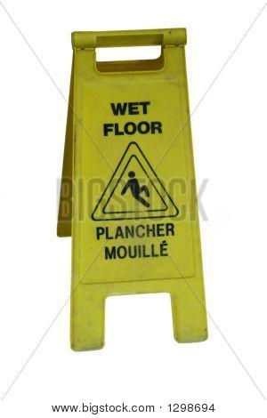 Bilingual Wet Floor Sign