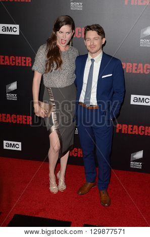 LOS ANGELES - MAY 14:  Jamie Anne Allman, Marshall Allman at the Preacher Premiere Screening at the Regal 14 Theaters on May 14, 2016 in Los Angeles, CA