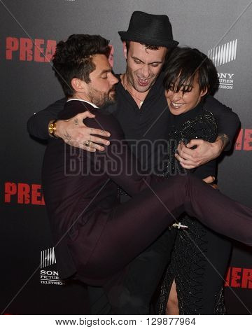 LOS ANGELES - MAY 14:  Dominic Cooper, Joseph Gilgun, Ruth Negga at the Preacher Premiere Screening at the Regal 14 Theaters on May 14, 2016 in Los Angeles, CA