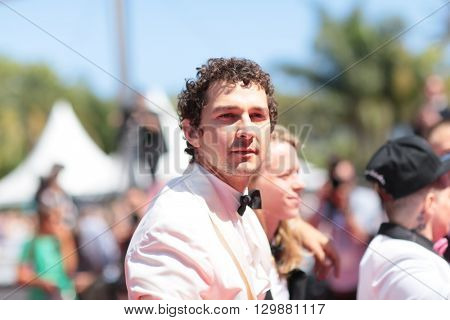 Shia Lebeouf attends 'American Honey' Premiere during The 69th Annual Cannes Film Festival at the Palais des Festivals on May 15, 2016 in Cannes, France.