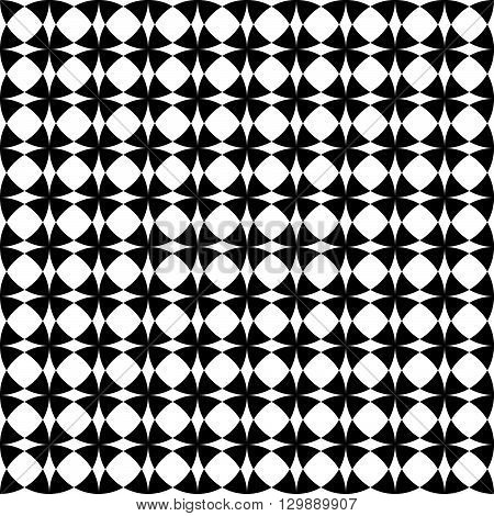 Seamless Pattern With Overlapping Circles - Repeatable Abstract Monochrome Circle Pattern, Backgroun