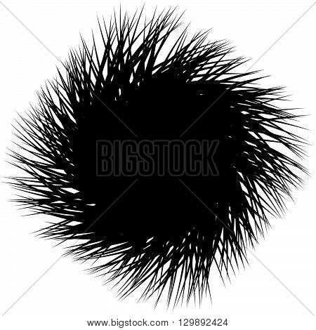 Edgy, Sharp Shape. Abstract Monochrome Background With Random, Pointed Lines. Contrasty Artistic Ill