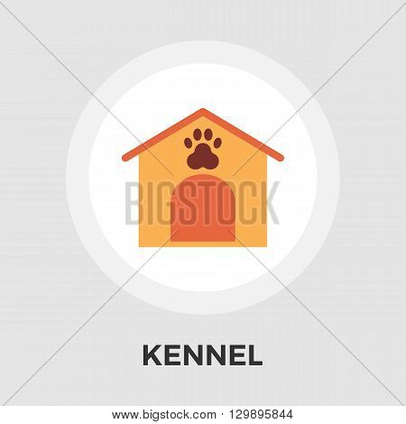 Kennel icon vector. Flat icon isolated on the white background. Editable EPS file. Vector illustration.
