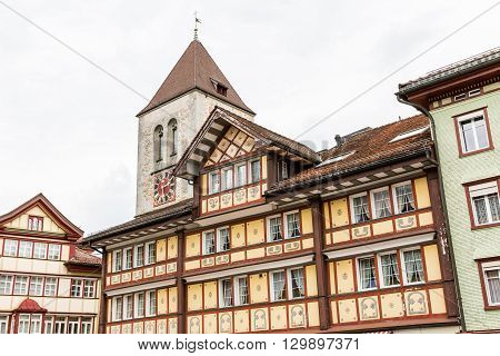 Views Of The Old Town Part Of Appenzell, Switzerland