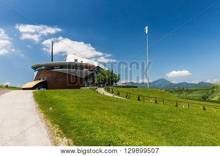 View Of The Modern Art Church Of Vysny Sliac, Slovakia