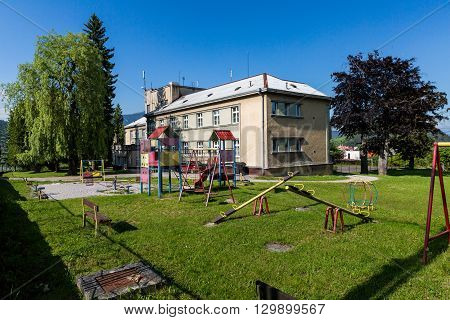 View To The Childrens Home In The City Of Ruzomberok