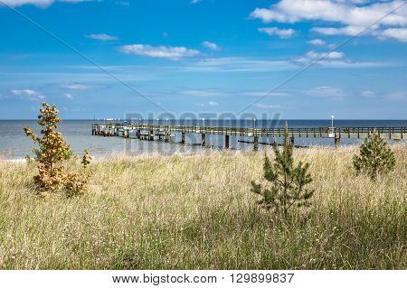 The pier in Koserow on the island Usedom (Germany).