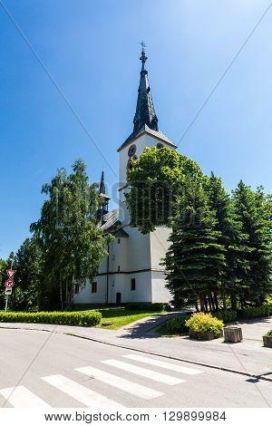 The City Centre Of Dolny Kubin In Slovakia