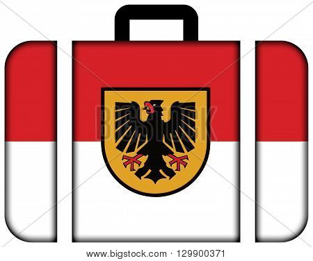 Flag Of Dortmund. Suitcase Icon, Travel And Transportation Concept