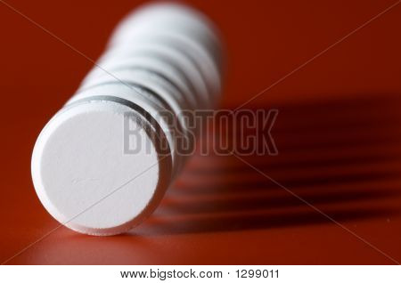 Column Of Tablets With Shadow