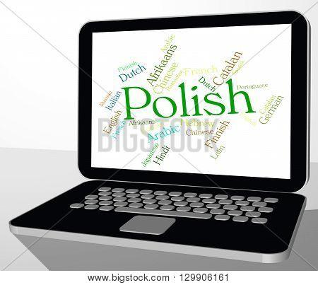 Polish Language Represents Lingo Word And Translate