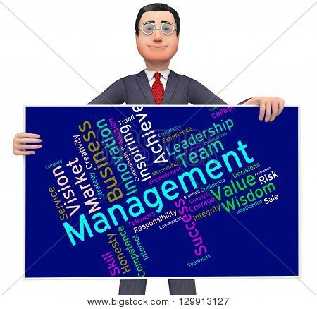 Management Words Represents Boss Company And Wordcloud