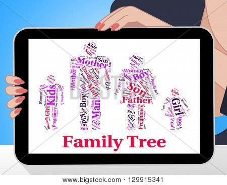 Family Tree Shows Blood Relative And Children