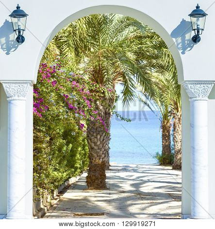 Open Door Arch With  Alley
