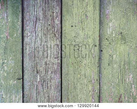 Boards farmhouse. The old paint residues. Texture of wooden boards
