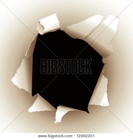 Hole - vector