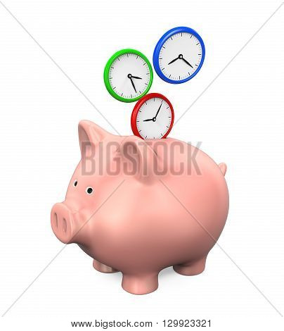 Time Saving Illustration isolated on white background. 3D render
