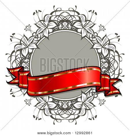 Ribbon & Floral background