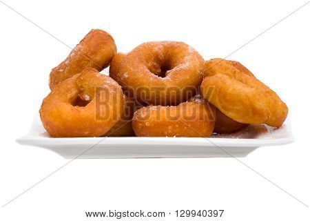 fried donuts isolated on a white background
