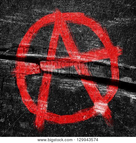 Anarchy sign with rough edges