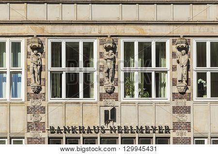 Headquarters Of The German Bank Neelmeyer In Bremen