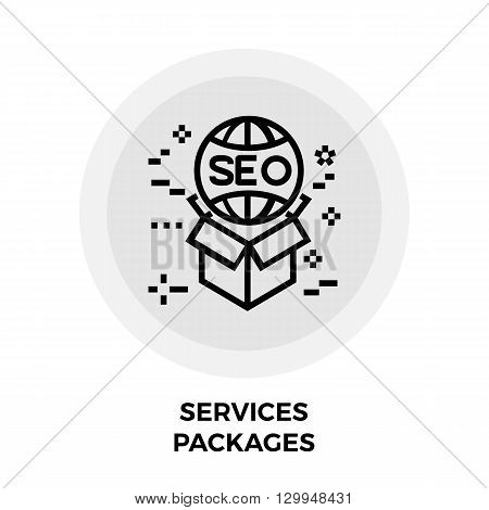 Services Packages icon vector. Flat icon isolated on the white background. Editable EPS file. Vector illustration.