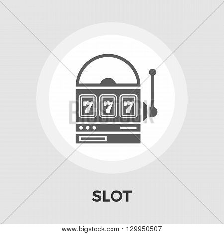 Slot icon vector. Flat icon isolated on the white background. Editable EPS file. Vector illustration.