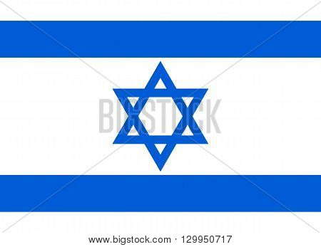 Vector of official flag of Israel country, Israel flag illustration