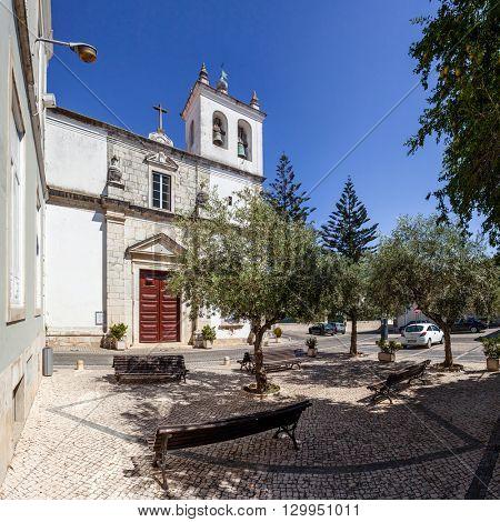 Santarem, Portugal. September 11, 2015:  Santo Estevao Church also known as Santissimo Milagre Sanctuary. Renaissance architecture.