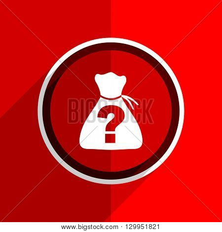 red flat design riddle web modern icon