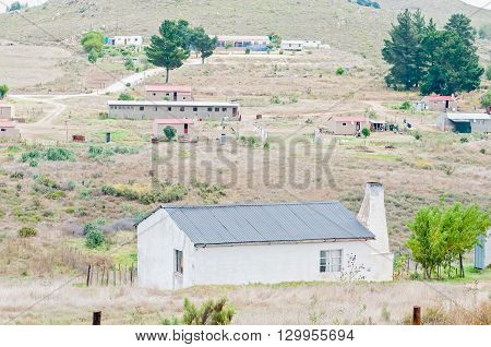 AVONTUUR SOUTH AFRICA - MARCH 5 2016: Houses a hostel and a primary school in Avontuur a small town in the Langkloof in the Western Cape Province