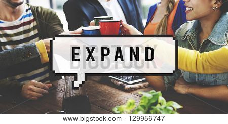 Expand Enlarge Development Increase Concept