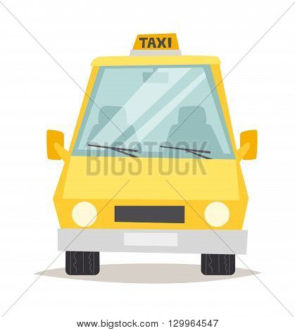 Yellow taxi isolated. Yellow taxi vector and yellow taxi car vehicle. Transportation cab yellow taxi and travel traffic automobile yellow taxi. Urban wheel symbol business sign yellow taxi.