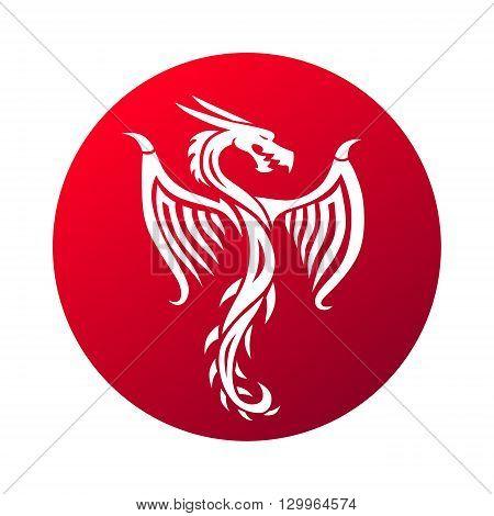 Red paper dragon china zodiac symbols. Chinese dragon vector and red chinese dragon art. Chinese dragon symbol culture traditional art design. Chinese dragon animal decoration ancient tradition.