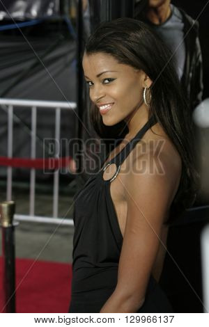 Claudia Jordan at the Los Angeles premiere of 'Collateral' held at the Orpheum Theatre in Los Angeles, USA on August 2, 2004.