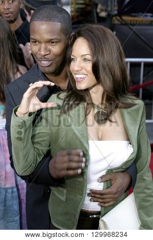 Jamie Foxx at the Los Angeles premiere of 'Collateral' held at the Orpheum Theatre in Los Angeles, USA on August 2, 2004.