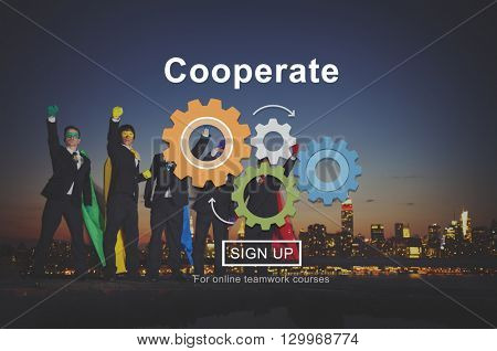 Cooperate Togetherness Collaboration Corporate Strategy Concept