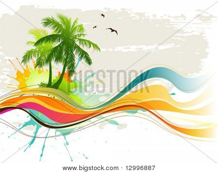 Summer background poster