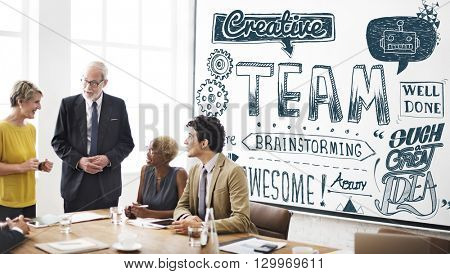 Team Teamwork Collaboration Corporate Concept