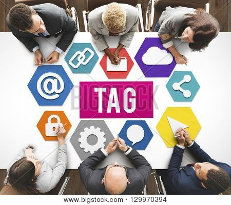 Tag Label Technology Word Graphic Concept