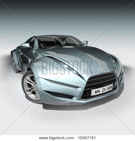 Konzeptfahrzeug. Mein eigenes Auto-Design.  Logo auf dem Auto ist frei erfunden.
