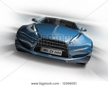 Sportwagen. Original Auto-Design. Platte auf das Auto ist frei erfunden.