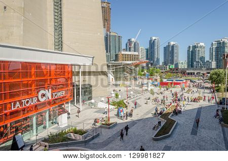 Toronto Cn (canadian National) Tower Entrance, Toronto