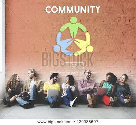 Community Connection Fellowship Network Concept