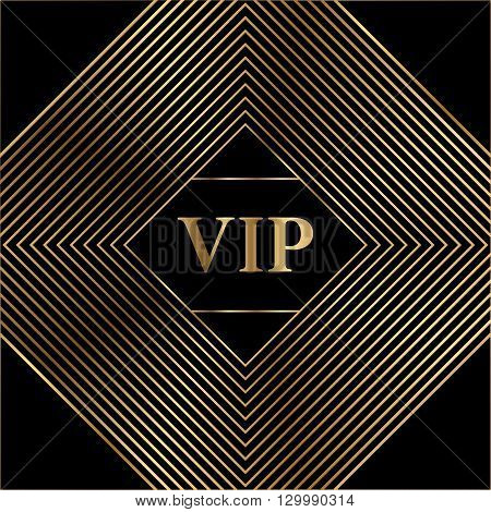 Vector GOLD MINIMAL cover design. Excellent Cover template for promotion, business card, beauty, fashion, restaurant, invitation, business, nightclubs and gift cards. - stock vector