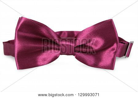 A purple bow Tie isolated on white background